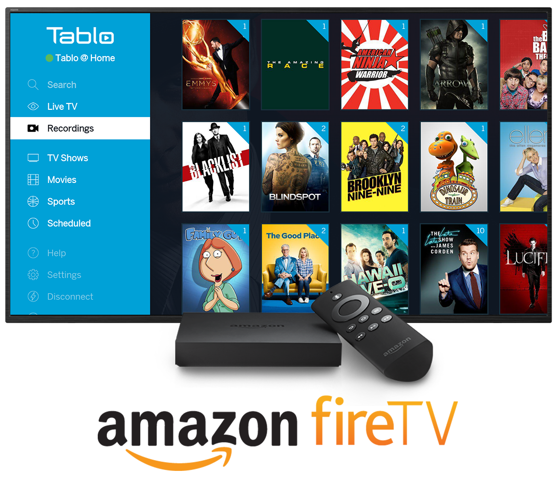 Tablo Amazon Fire TV In-Situ