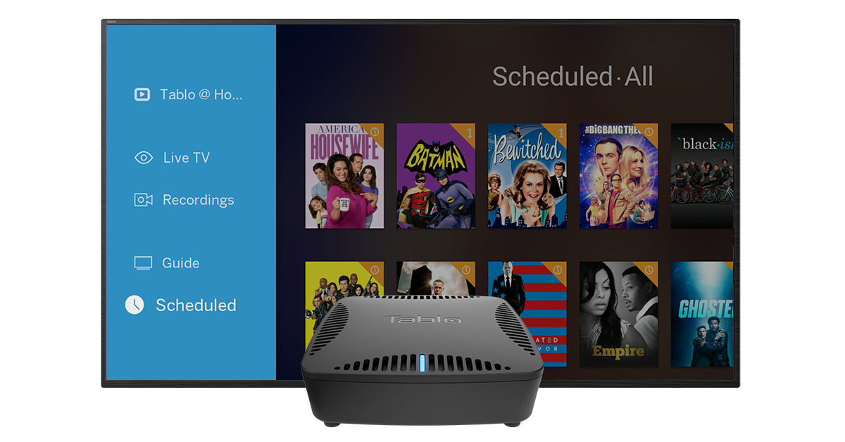 Tablo DUAL/DUAL LITE MENU (Amazon Fire TV)