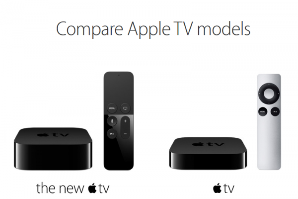 Apple TV new vs. old