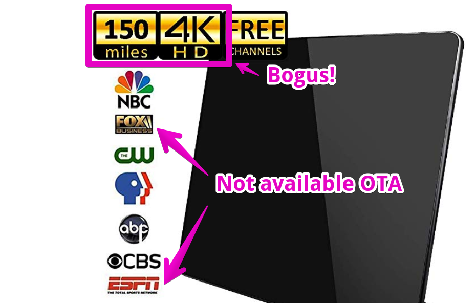 bogus antenna marketing