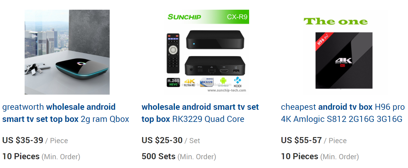 bulk purchase android box