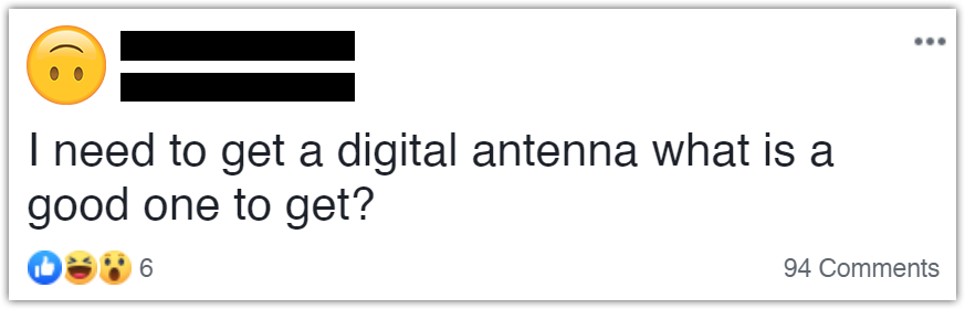 how not to ask for antenna buying advice