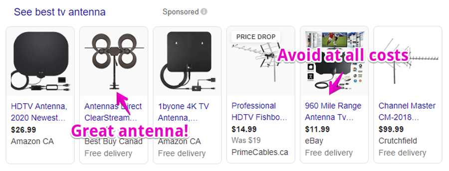 Google Antenna Sponsored Results