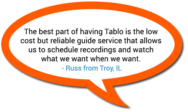 Tablo Russ Guide subscription