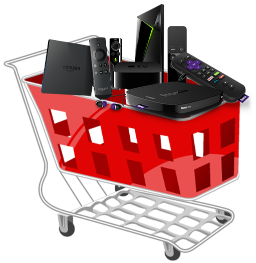 Tablo set-top-box shopping cart