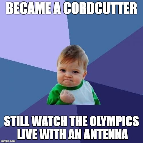 Cordcutter Olympics Success Kid