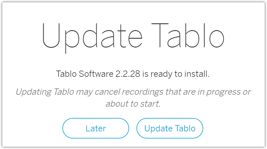 tablo firmware update