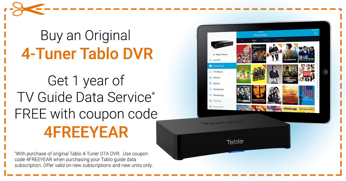 Get 1 Year of TV Guide Data FREE with Purchase of Original 4