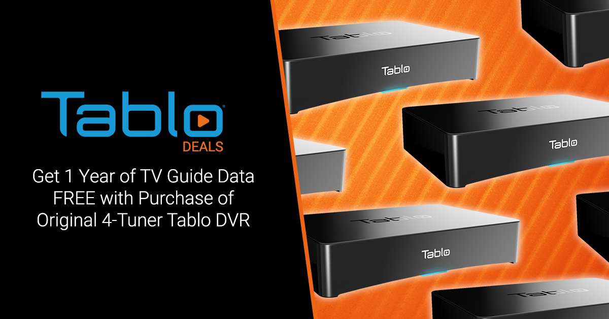 Tablo 1 year guide data free 4-Tuner