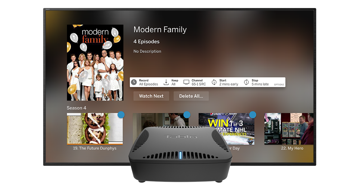 tablo apple tv advanced recording