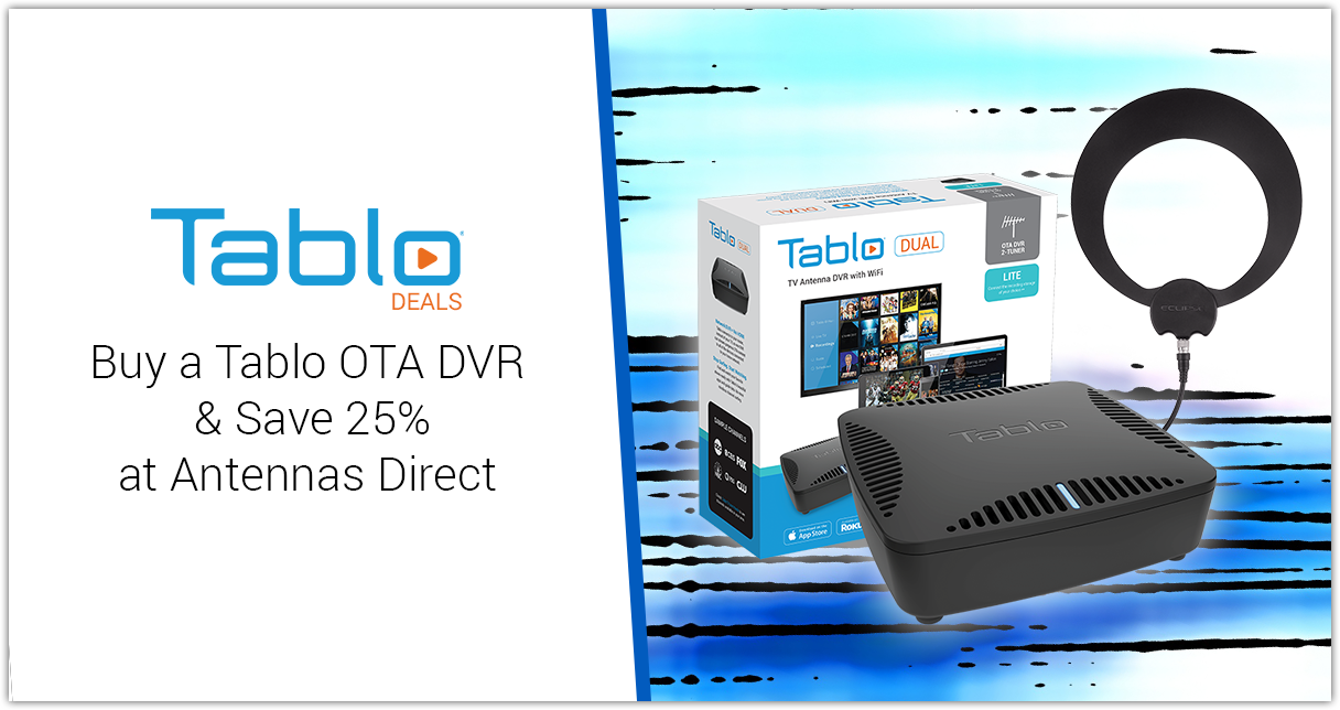 Tablo Antennas Direct 25 percent promo