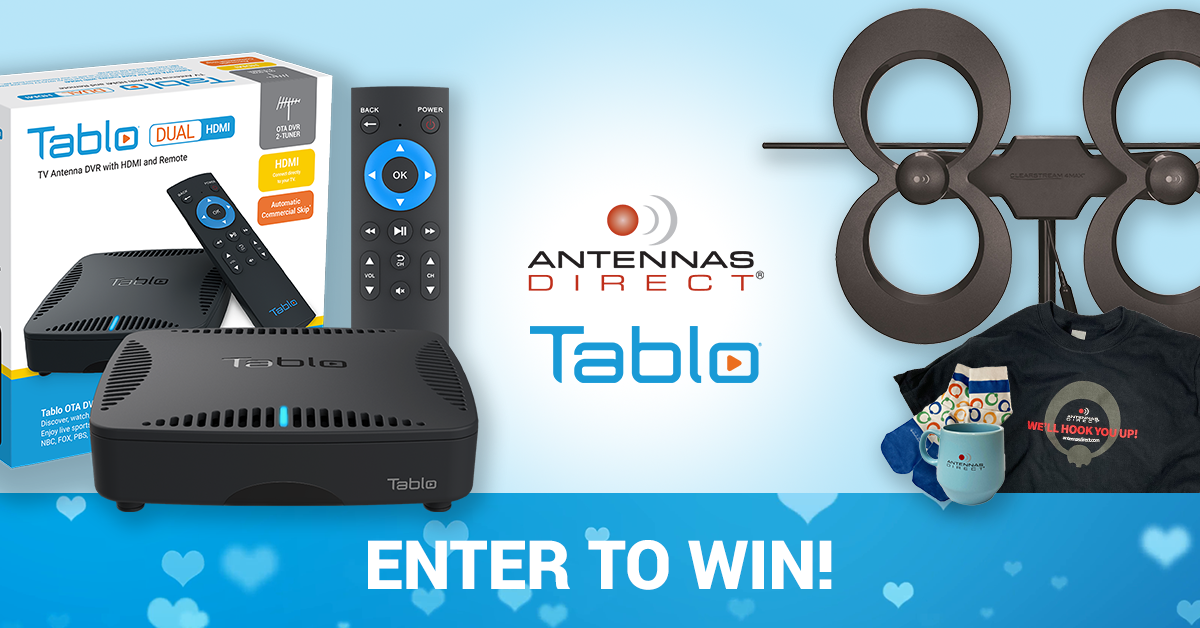 Tablo Antennas Direct Valentine Giveaway