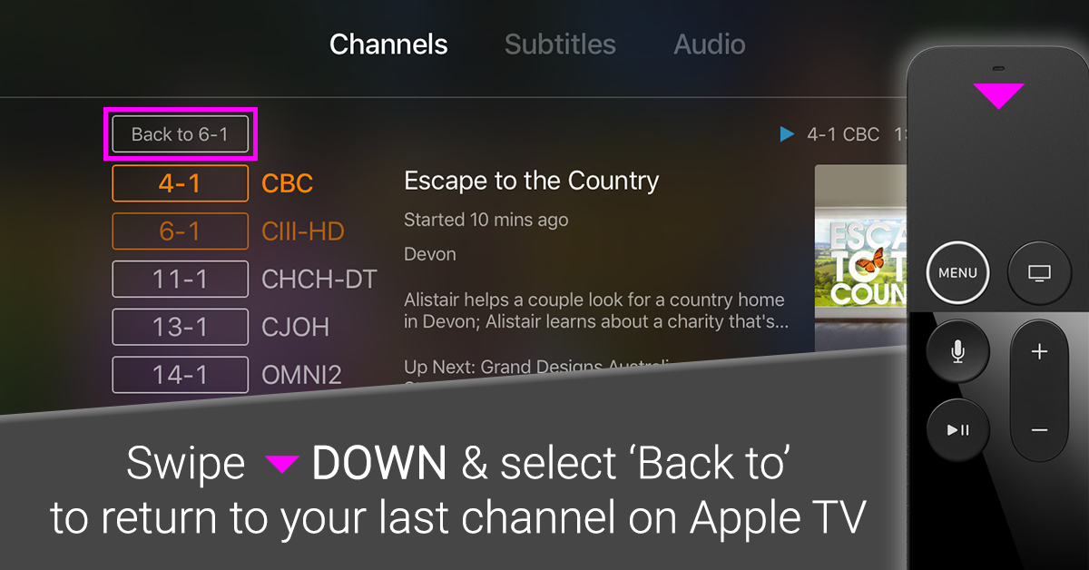 New Tablo OTA DVR Feature – Quick Channel Select | Over The