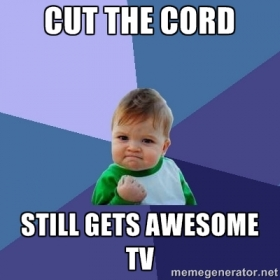 Tablo Cord Cutting Success Baby