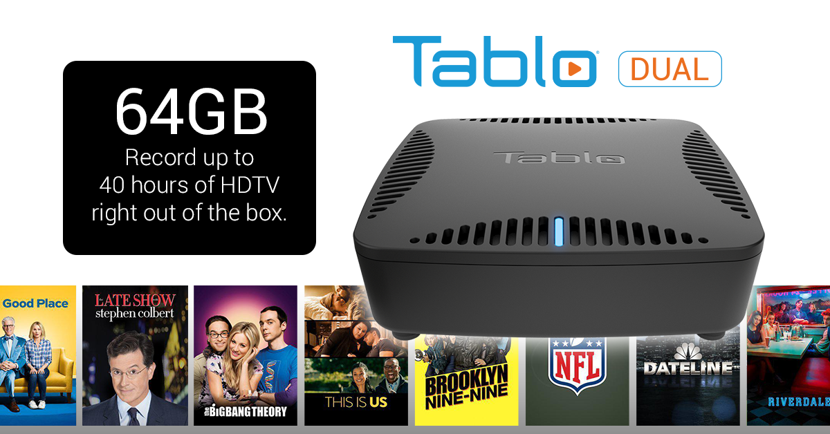 Tablo DUAL onboard storage