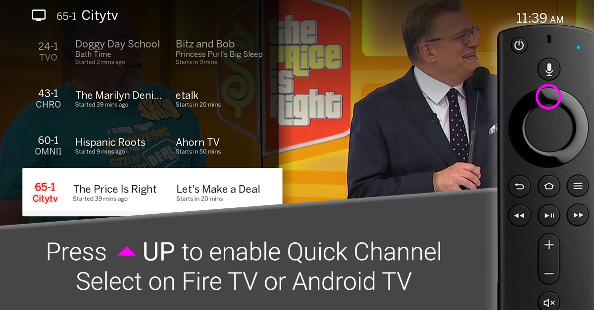 tablo fire tv quick channel select