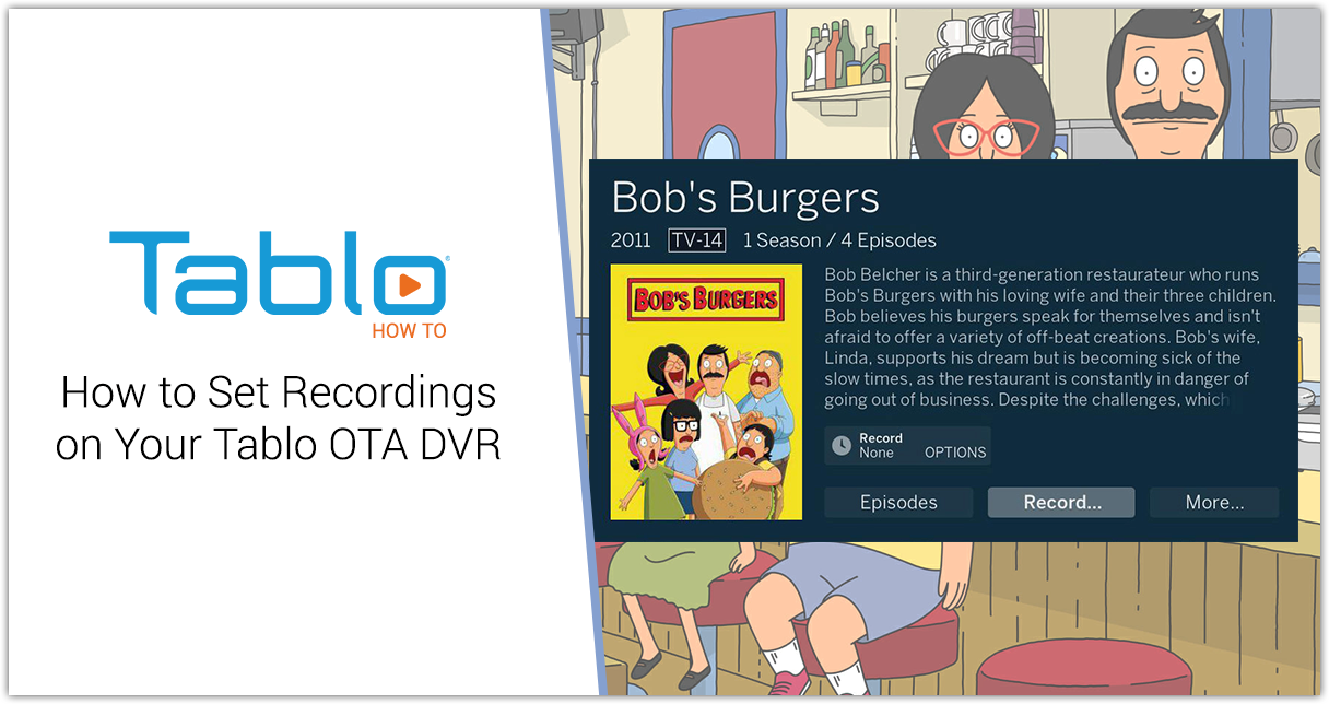 How to Set Recordings on Your Tablo OTA DVR