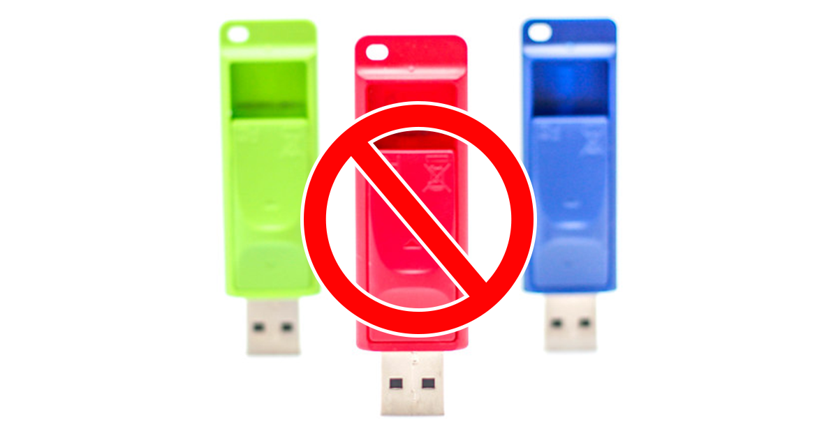 usb flash keys unsupported