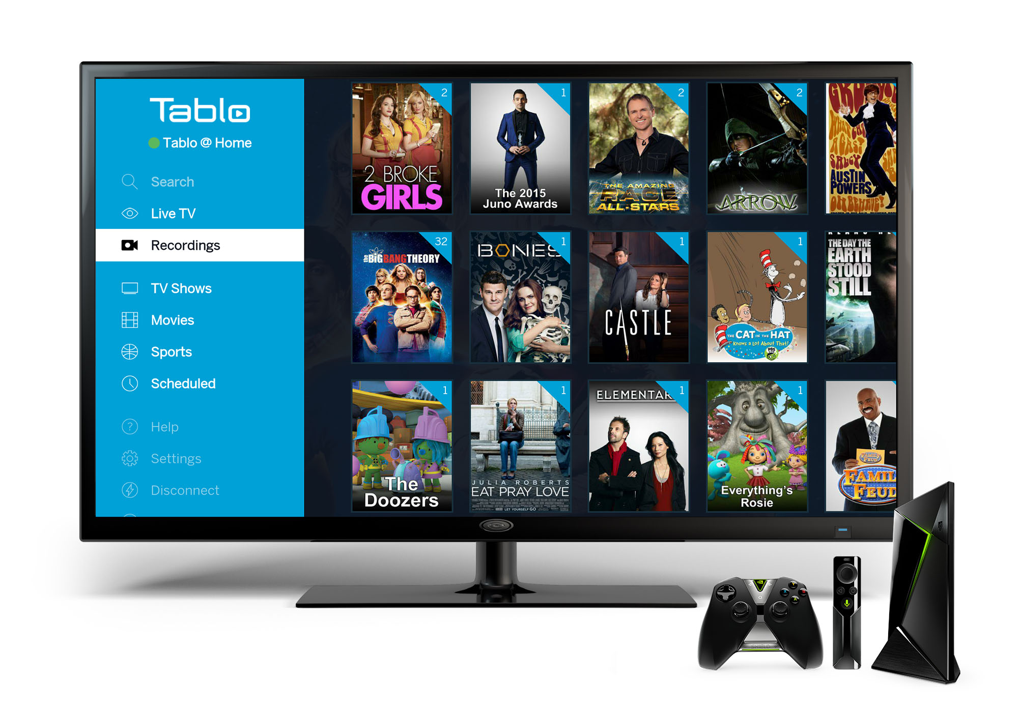 Tablo Android TV App Recordings View Nvidia Shield