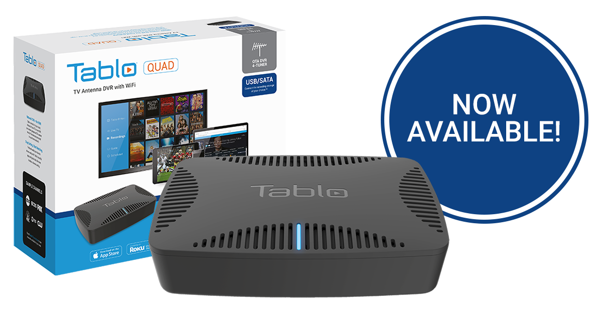 Tablo QUAD OTA DVR for Cord Cutters Now Available | Over The Air