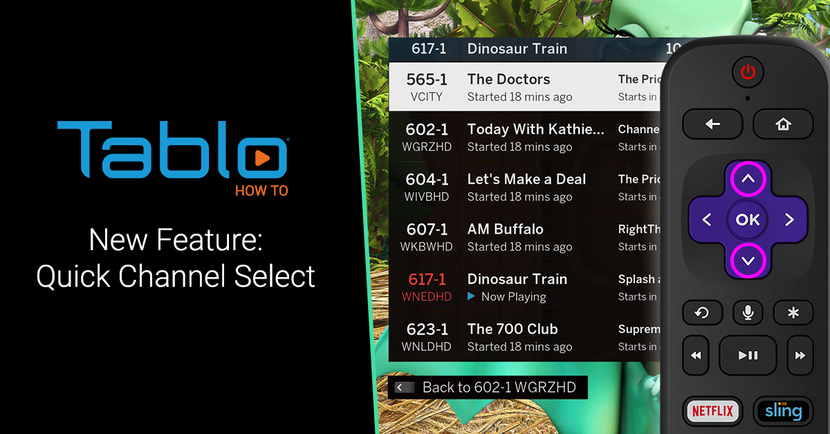 tablo quick channel select