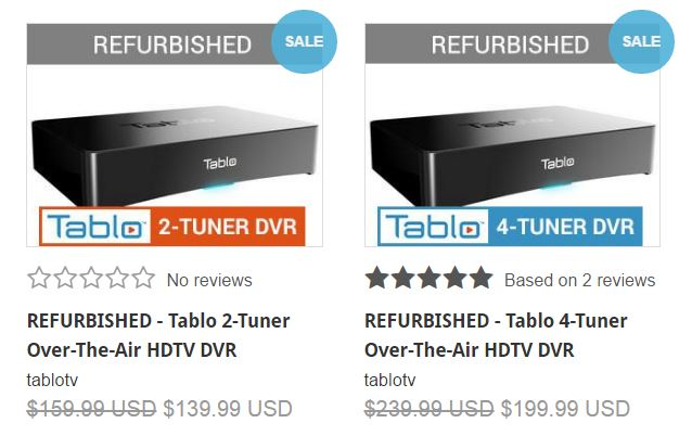 Tablo refurbished DVR sale
