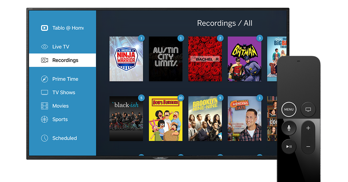 tablo apple tv remote