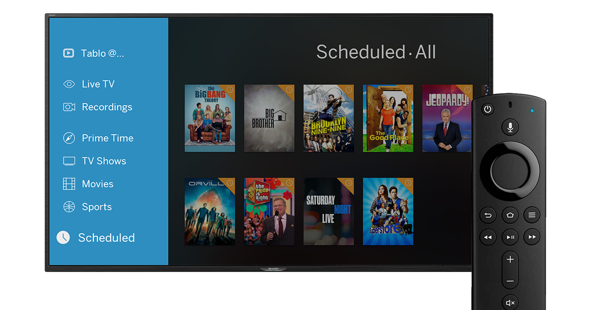 tablo firetv remote options
