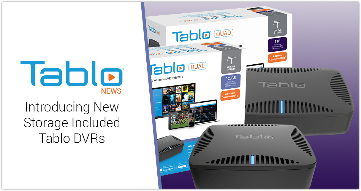 Tablo Storage Included DVRs