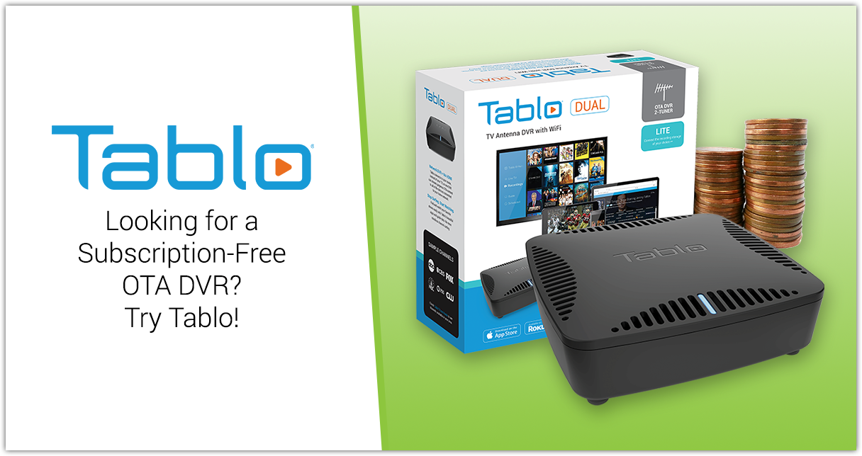 tablo subscription-free OTA DVR