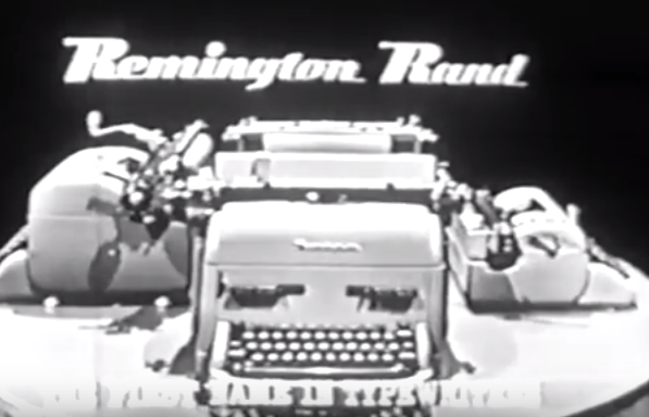 typewriter commercial